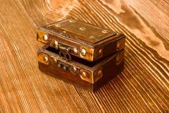 Vecchia casella di legno fotografie stock libere da diritti