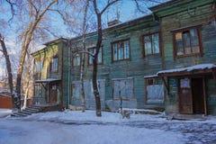 Vecchia caserma di legno Fotografie Stock Libere da Diritti