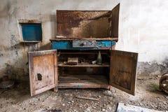 Vecchia cassa del ferro Fotografie Stock Libere da Diritti