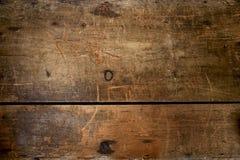 Vecchia cassa di legno enorme e mólto strutturata del grunge Immagini Stock Libere da Diritti