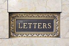 Vecchia cassetta delle lettere della lettera Fotografia Stock Libera da Diritti
