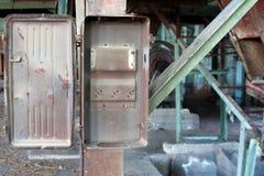 Vecchia cassetta di controllo vuota di potenza Immagine Stock Libera da Diritti