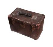 Vecchia cassetta portautensili di cuoio Fotografie Stock Libere da Diritti