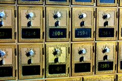 Vecchia cassetta postale di modo dell'annata Fotografia Stock
