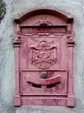 Vecchia cassetta postale italiana Fotografia Stock