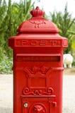 Vecchia cassetta postale rossa. Fotografia Stock Libera da Diritti