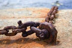 Vecchia catena arrugginita Fotografia Stock