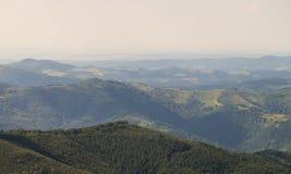 Vecchia catena montuosa della Bulgaria Fotografia Stock