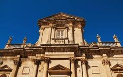 Vecchia cattedrale della città di Dubrovnik Fotografia Stock