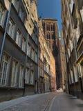 Vecchia cattedrale della st Mary a Danzica Fotografia Stock Libera da Diritti