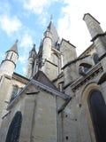 Vecchia cattedrale a Digione, Francia fotografia stock libera da diritti