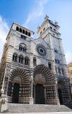 Vecchia cattedrale a Genova fotografie stock libere da diritti