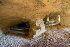 Vecchia cava abbandonata in Serbia Fotografia Stock