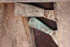 Vecchia cazzuola degli strumenti Fotografie Stock Libere da Diritti