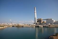Vecchia centrale elettrica, telefono Aviv Israel Fotografie Stock Libere da Diritti