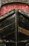 Vecchia chiatta di legno del fiume Immagine Stock