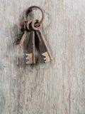 Vecchia chiave arrugginita Fotografia Stock