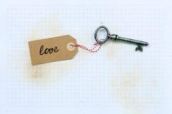 Vecchia, chiave decorata Immagine Stock Libera da Diritti