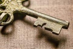 Vecchia chiave del tesoro fotografia stock