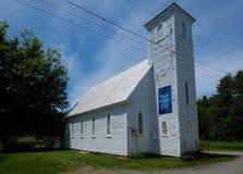 Vecchia chiesa abbandonata in Quebec Fotografie Stock