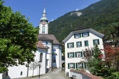 Vecchia chiesa a Altdorf nel Cantone di Uri Fotografie Stock Libere da Diritti