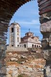 Vecchia chiesa antica Plaosnik in Ocrida, Macedonia Fotografia Stock