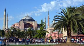 Vecchia chiesa bizantino a Costantinopoli Hagia Sophia fotografie stock