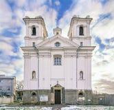 Vecchia chiesa Carmelitana a Kaunas Fotografia Stock Libera da Diritti