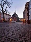 Vecchia chiesa cattolica in Pardubice Fotografia Stock Libera da Diritti