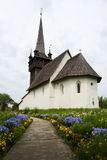 Vecchia chiesa in Chetfalva Transcarpathia l'ucraina Fotografia Stock