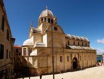 Vecchia chiesa, Croatia. Sibenik Fotografia Stock Libera da Diritti