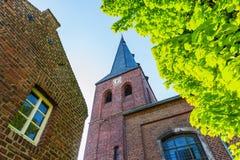 Vecchia chiesa del mattone in Bedburg alt-Kaster, Germania Immagine Stock Libera da Diritti