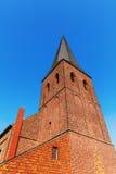 Vecchia chiesa del mattone in Bedburg alt-Kaster, Germania Fotografie Stock