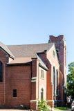 Vecchia chiesa del mattone a Charlottetown Fotografia Stock
