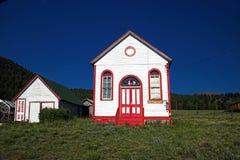 Vecchia chiesa della città fantasma Fotografie Stock Libere da Diritti