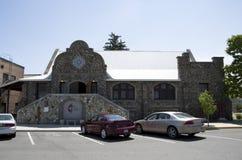 Vecchia chiesa della pietra della città Fotografie Stock