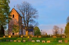Vecchia chiesa della svezia Immagini Stock Libere da Diritti