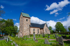 Vecchia chiesa della svezia Fotografie Stock