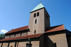 Vecchia chiesa di Aker, Oslo Immagini Stock