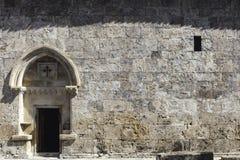 Vecchia chiesa di Jotari dell'albanese nell'Azerbaigian Fotografie Stock