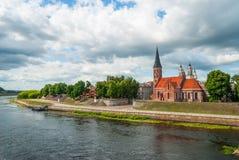 Vecchia chiesa di Kaunas, Lituania Fotografia Stock Libera da Diritti