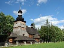Vecchia chiesa di legno fotografia stock