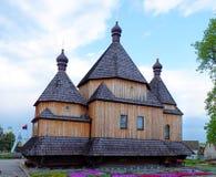 Vecchia chiesa di legno Fotografie Stock Libere da Diritti