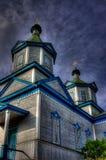 Vecchia chiesa di legno in Pereyaslav Fotografia Stock