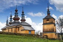 Vecchia chiesa di legno in Polonia Fotografia Stock