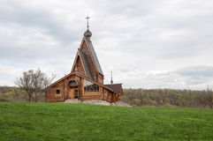 Vecchia chiesa di legno russa Fotografie Stock Libere da Diritti