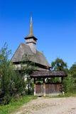 Vecchia chiesa di legno in Salistea de Sus, Maramures Fotografia Stock Libera da Diritti