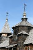 Vecchia chiesa di legno in Suzdal Fotografia Stock