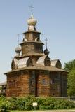 Vecchia chiesa di legno in Suzdal' Immagini Stock