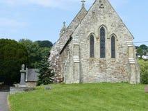 Vecchia chiesa di Lingua gallese Fotografia Stock Libera da Diritti